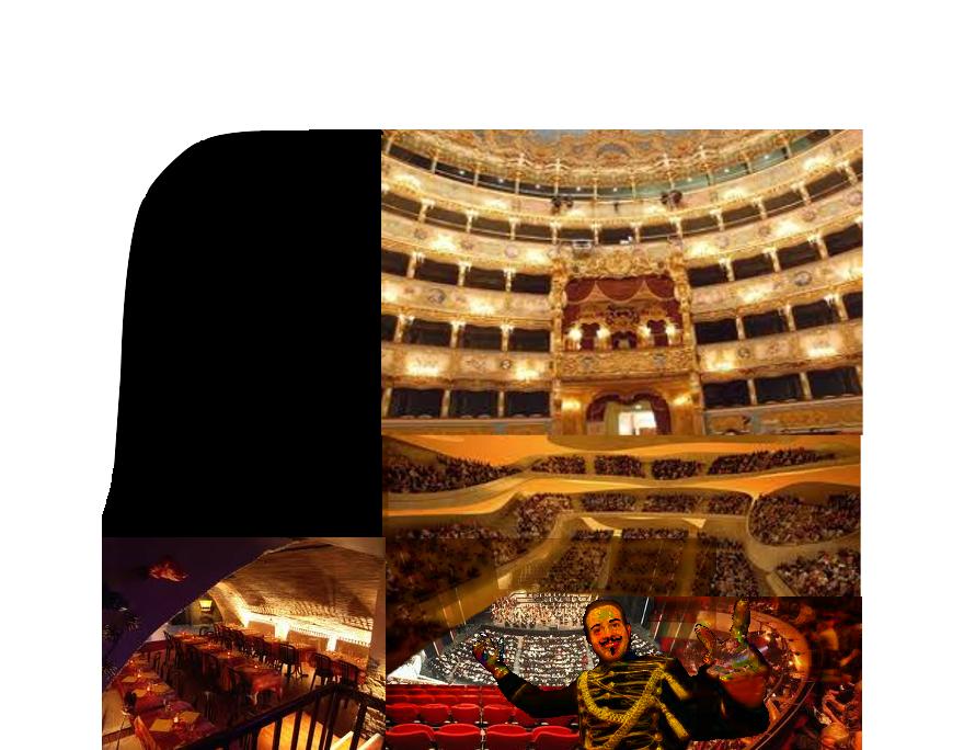 Monsieur Loyal nous accueille dans la vaste loge d'une salle gigantesque de plusieurs théâtres, opéras empilés au-dessus d'une grande scène tout en bas